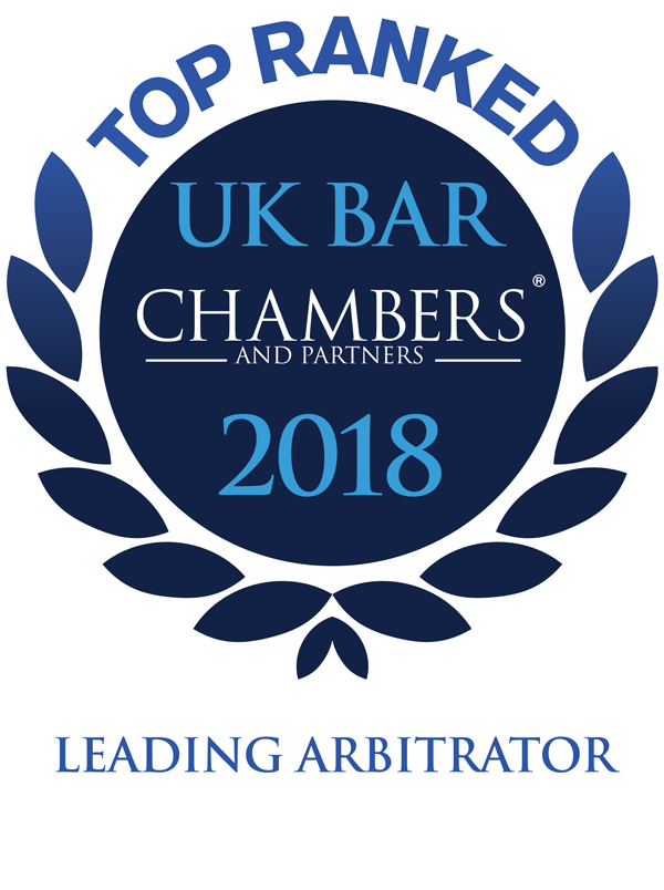 Leading Arbitrator - Chambers & Partners 2018